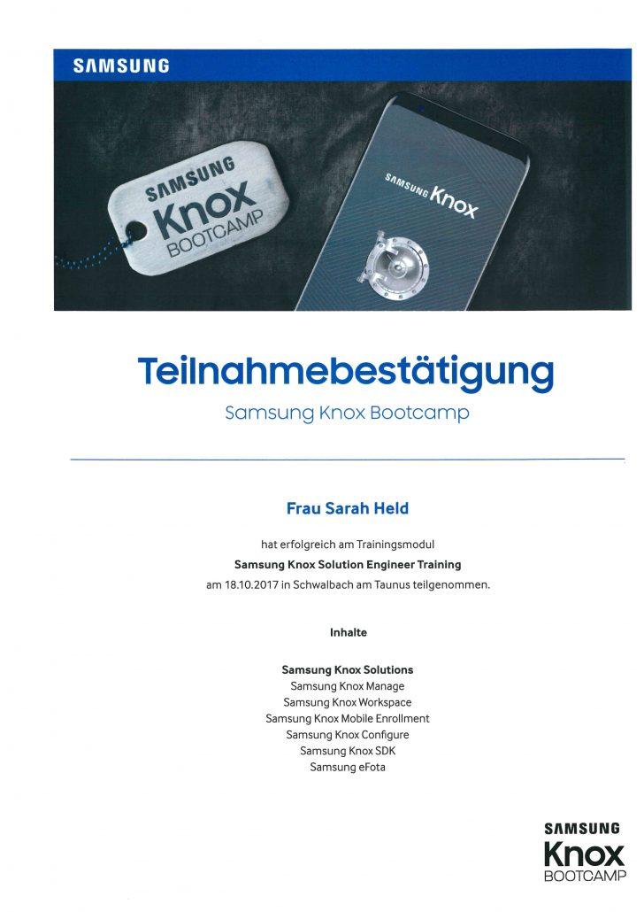 Samsung KNOX Bootcamp Held