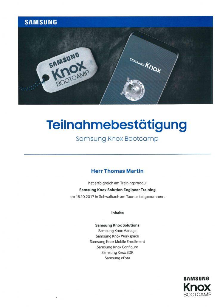 Samsung KNOX Martin