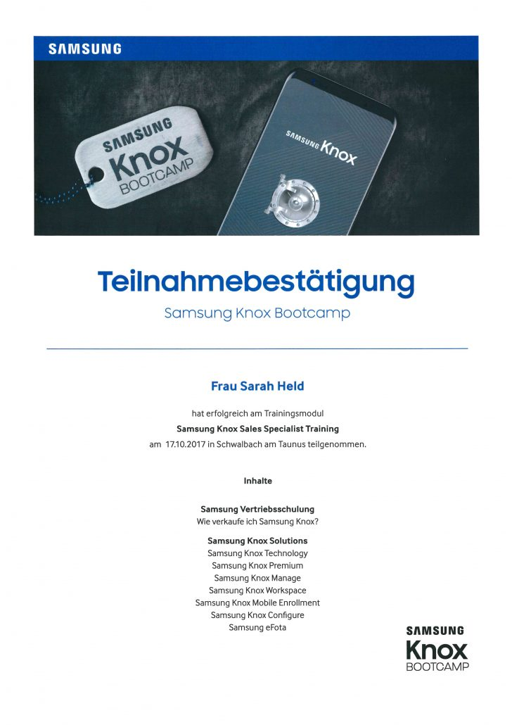 Samsung KNOX Held